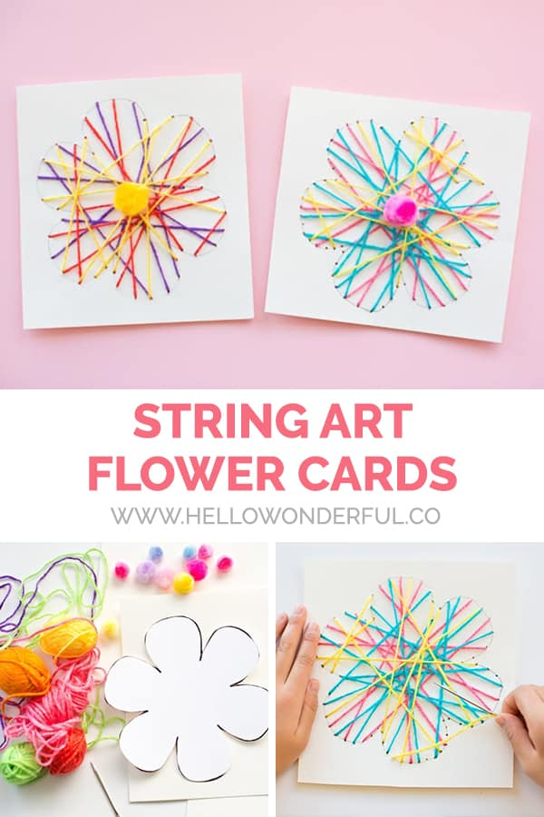 String Art Flower Cards