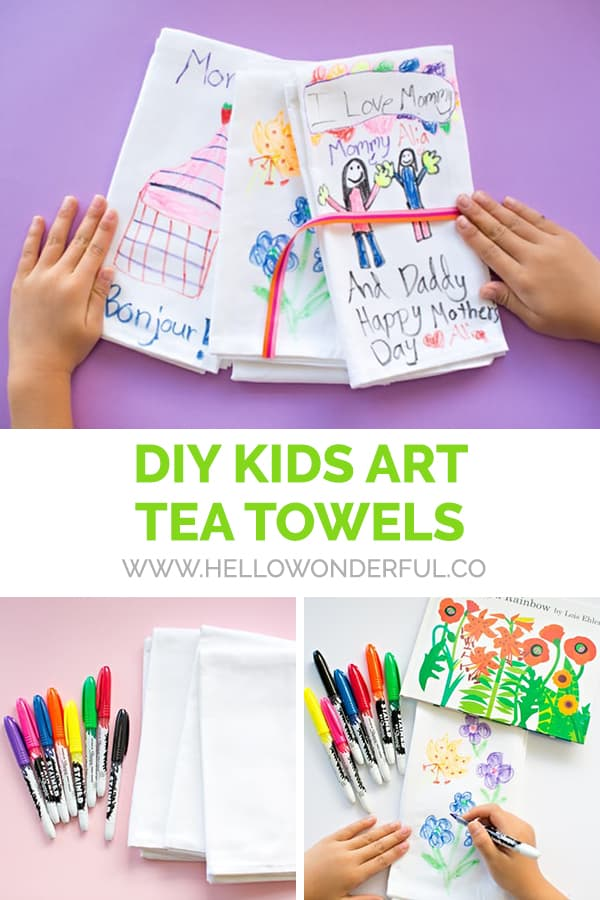 DIY Kids Art Tea Towels