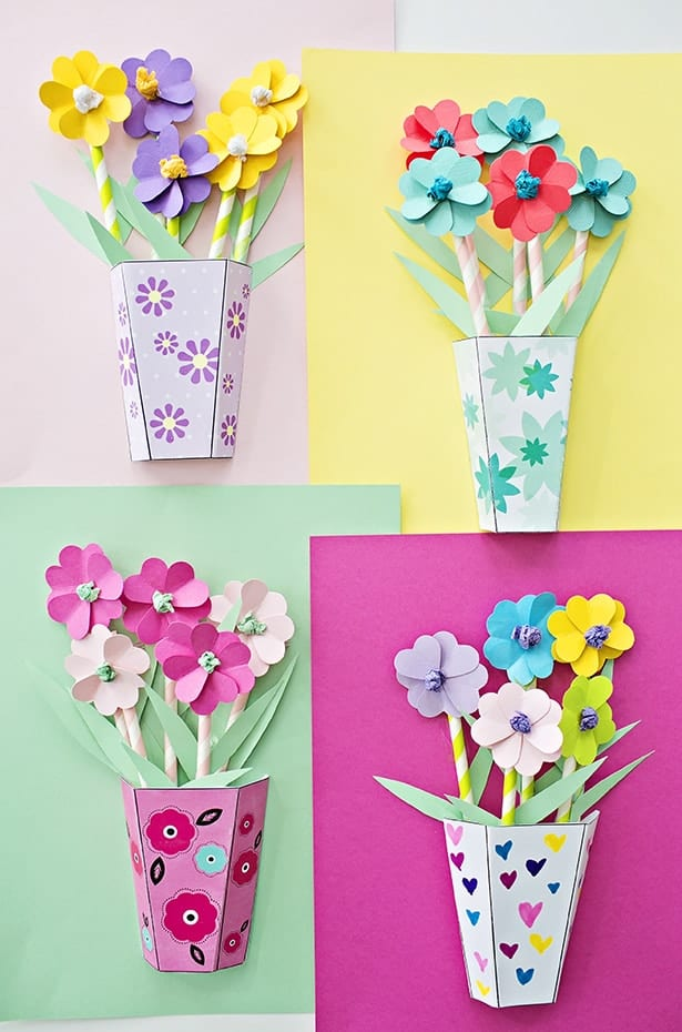 how to make diy paper roses with free printable template. Black Bedroom Furniture Sets. Home Design Ideas