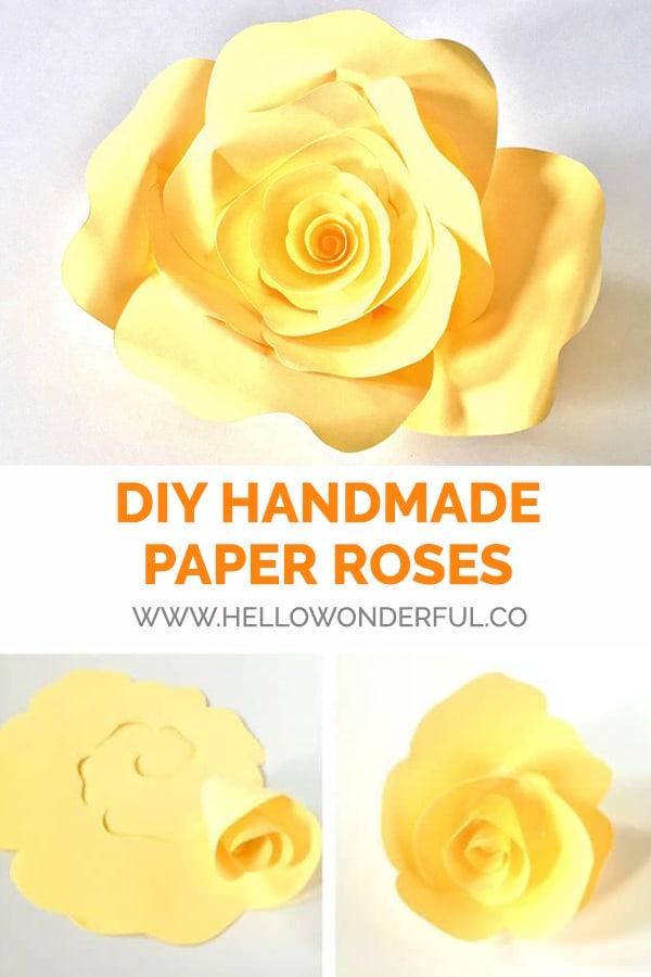 DIY Handmade Paper Roses