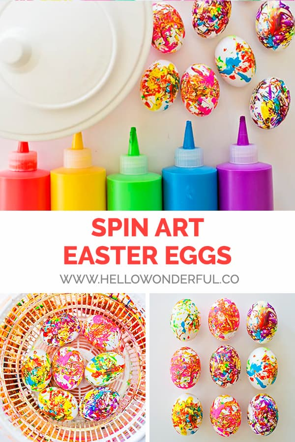 Spin Art Easter Eggs