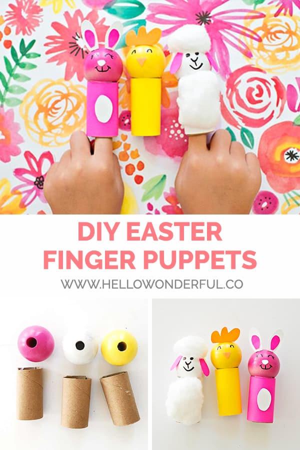 DIY Easter Finger Puppet Kids Craft