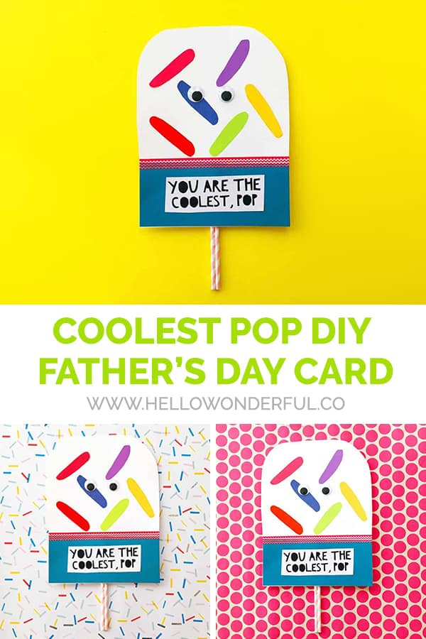 Your kids will love making this Coolest Pop Father's Day card with simple supplies!