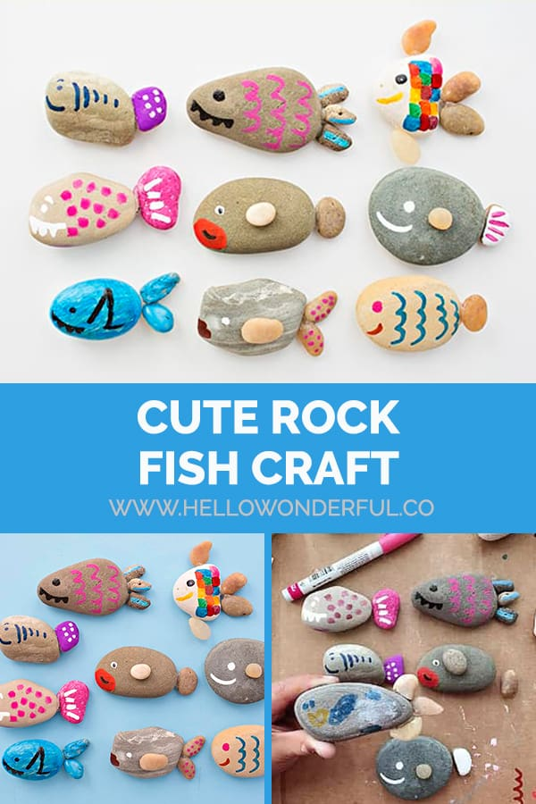 Make a cute rock fish craft!