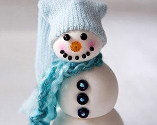 DIY CLAY SNOWMAN