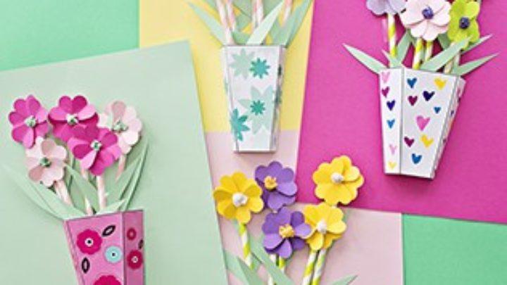 Simple Origami Heart Flower Bouquet - Design Improvised | 405x720