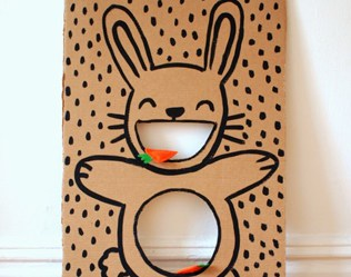 Diy Bunny Bean Bag Toss