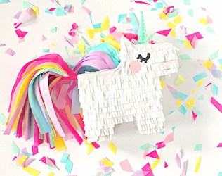 HOW TO MAKE A UNICORN PIÑATA   PRINTABLE TEMPLATE AND INSTRUCTIONS