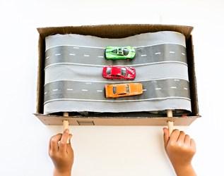 DIY CARDBOARD CAR CONVEYOR BELT