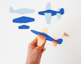 DIY PAPER PLANE TOY (WITH FREE TEMPLATE)