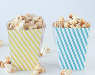graphic regarding Printable Popcorn Boxes named Cost-free PRINTABLE STRIPED POPCORN Containers
