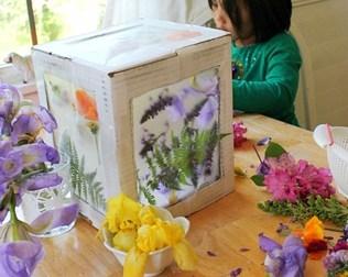 MAKE A BOX NATURE SUNCATCHER