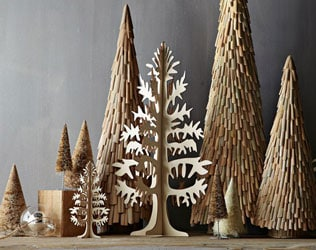 NATURAL WOODEN TREE CUT OUTS