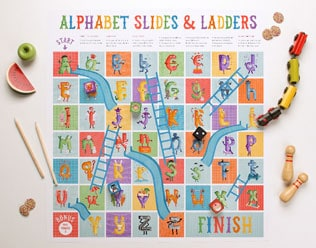 Alphabet Slides And Ladders Free Printable Game