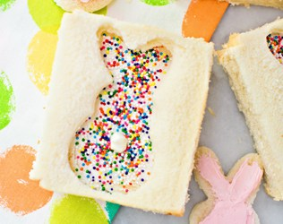 BUNNY FAIRY BREAD: CUTE EASTER TREAT FOR KIDS