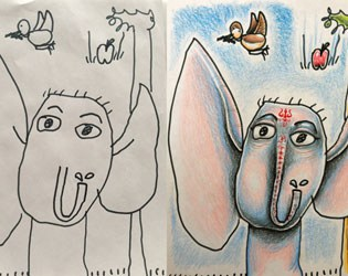 CREATIVE DAD FINISHES HIS KIDS' DRAWINGS