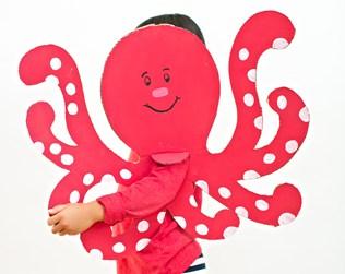 EASY CARDBOARD OCTOPUS COSTUME FOR KIDS