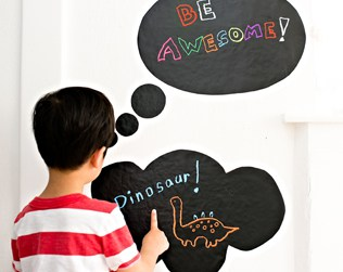 DIY CHALK BUBBLE QUOTE DECALS