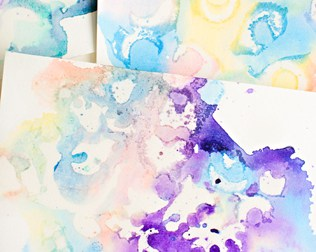 MARBLED WATERCOLOR AND OIL PAINTING WITH KIDS