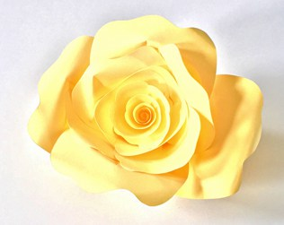 DIY FREE PAPER ROSE TEMPLATE PRINTABLE