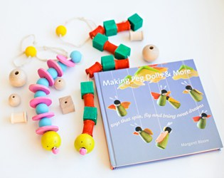 DIY WOODEN PULL TOY SNAKE + REVIEW OF MAKING PEG DOLLS & MORE BOOK