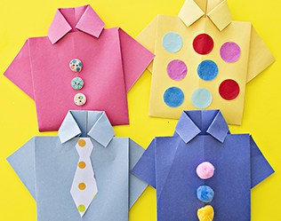 EASY ORIGAMI SHIRT CARD