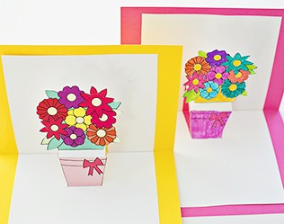 HOW TO MAKE POP-UP FLOWER CARDS WITH FREE PRINTABLES