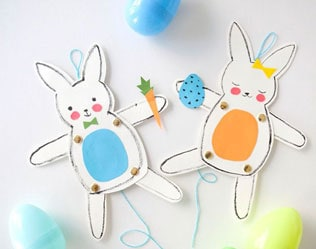 Diy Jumping Jack Easter Bunnies
