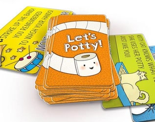 LET'S POTTY IS  A GAME THAT MAKES POTTY TRAINING FUN