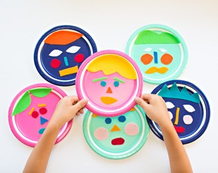 MIX AND MATCH FELT PAPER PLATE FACES