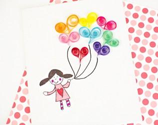 EASY PAPER QUILL ART FOR KIDS: HEART BALLOONS