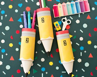 PAPER PENCIL TUBE CRAFT WITH FREE PRINTABLE TEMPLATE