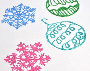 HOLIDAY PUFFY PAINT WINDOW CLINGS