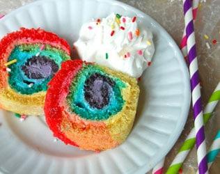 RAINBOW ROLL CAKE