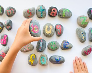 DIY ALPHABET ROCKS WITH FREE PRINTABLE LETTERS