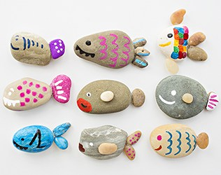 CUTE ROCK FISH CRAFT