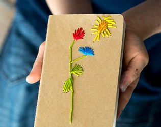 KID-MADE MOTHER'S DAY STITCHED NOTEBOOK