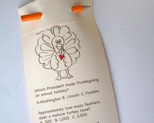 FREE PRINTABLE TURKEY TRIVIA CARD