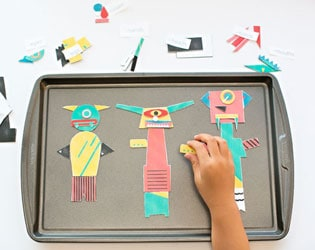 MODERN MIX AND MATCH MAGNETIC MONSTERS  – FREE PRINTABLE