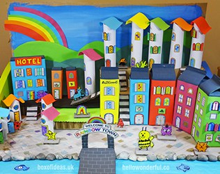 How To Create A Recycled Rainbow Town With Kids