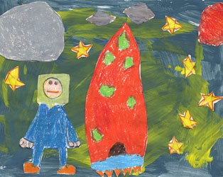 HOW OUTER SPACE LOOKS DEPICTED BY KIDS' DRAWINGS