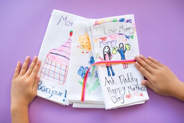 DIY KIDS' ART TEA TOWELS
