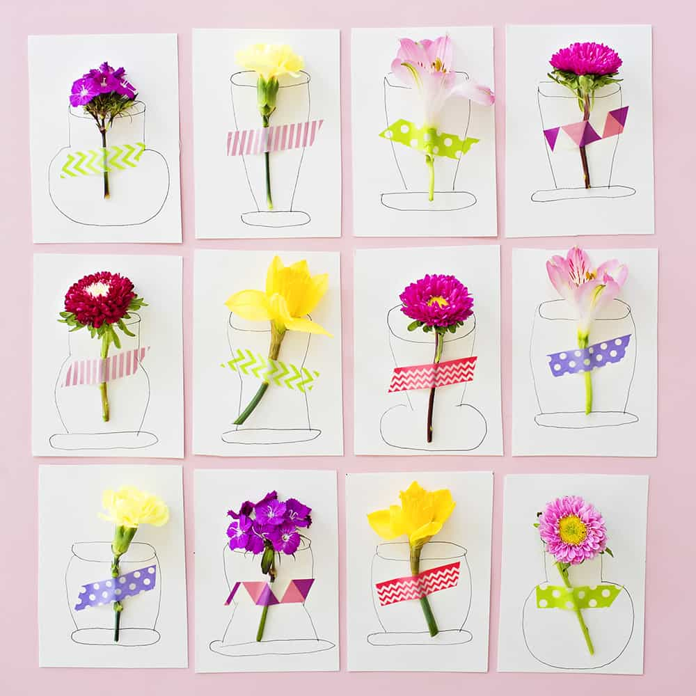 10 Beautiful Flower Art Projects For Kids Hello Wonderful