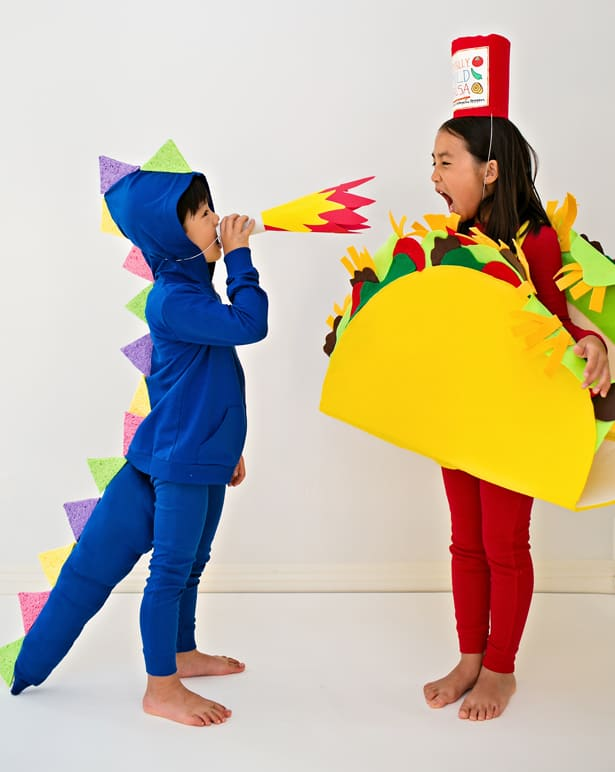 DRAGONS LOVE TACOS DIY HALLOWEEN COSTUMES FOR KIDS