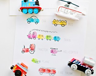 TRANSPORTATION VEHICLES FINGERPRINT ART