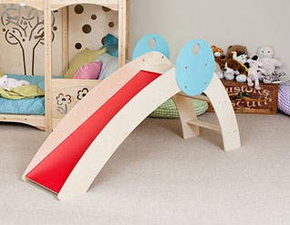 AWESOME INDOOR WOODEN PLAY SLIDE