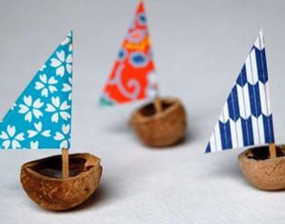 Make An Adorable Hickory Nut Sailboat