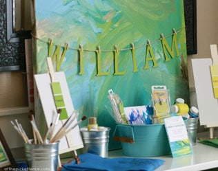 PARTY INSPIRATION: PAINTING PARTY