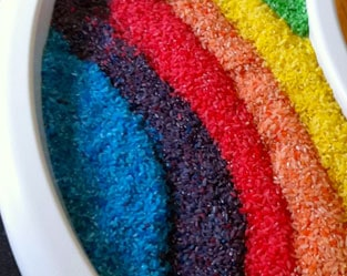 BABY SENSORY PLAY: COLORED RICE