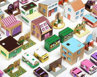 CREATIVE TOY: PAPER TOWN SET